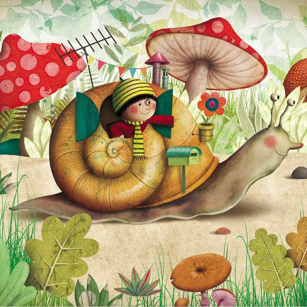 marie desbons carte-postale-escargot-marie-desbons